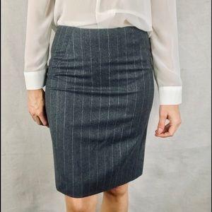 THEORY Wool Pinstripe Pencil skirt